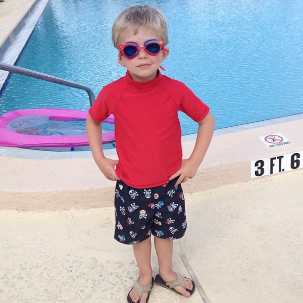 Mase at the pool